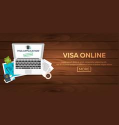 Visa online visa application document for travel vector