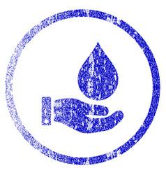 Water service grunge textured icon vector