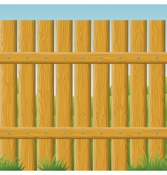 Wooden fence seamless vector image vector image