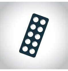 10 medicines in blister icon vector