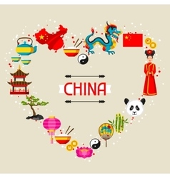 China background design Chinese symbols and vector image