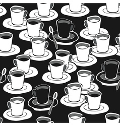 Coffee patterns vector image
