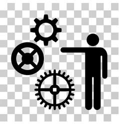 project mechanics icon vector image