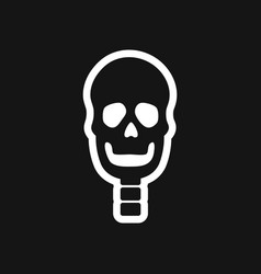 Stylish black and white icon human skull vector