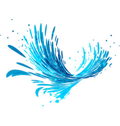 Splash wave on white vector