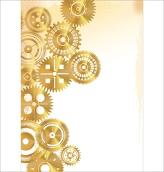 Golden gear background vector image