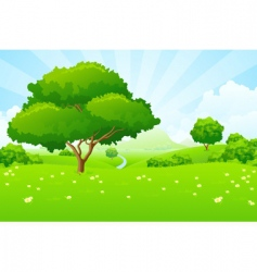 Tree landscape vector