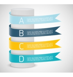 Set of ribbons Infographic design vector image