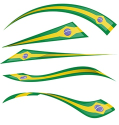 Brazil flag set on white background vector
