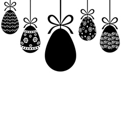 Egg hanging vector
