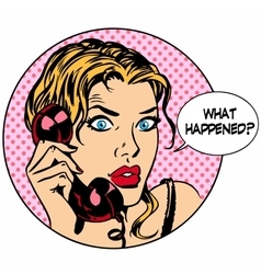 What happens woman phone question online support vector