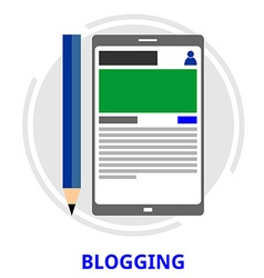 Blogging vector
