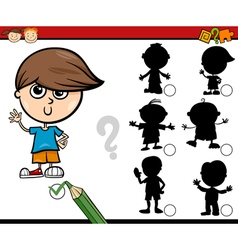 Shadows task cartoon for children vector