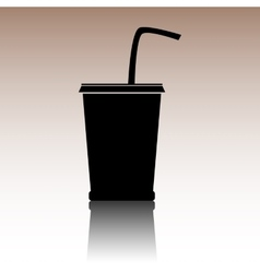 Black drink icon vector