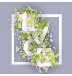 Love Word Made Of Chamomile Or Daisy Flowers And vector image