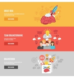 Brainstorm banners set vector