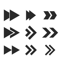 Right direction flat icon set vector