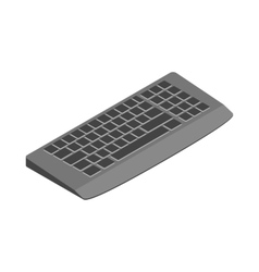 Keyboard icon cartoon style vector