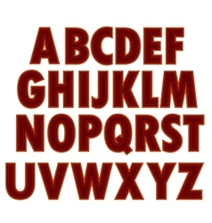 Red textile alphabet vector