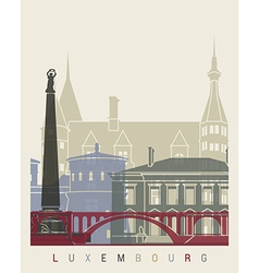 Luxembourg skyline poster vector