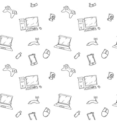 A seamless pattern of hand drawn doodles of vector image