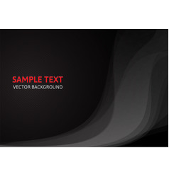 abstract black concept design template background vector image vector image