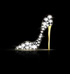 Abstract jewel shoe vector