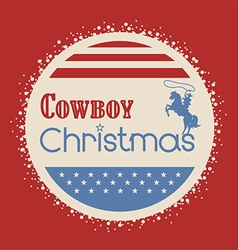 American cowboy christmas greeting card vector image