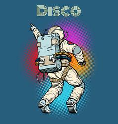 astronaut dancing disco vector image vector image