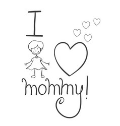 Collection mother day hand draw vector