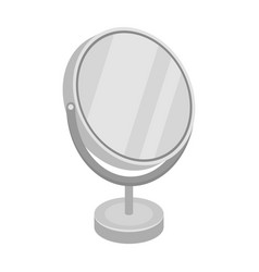Desk mirrorbarbershop single icon in monochrome vector