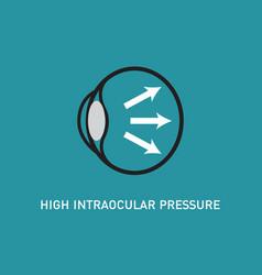 eye pressure logo vector image vector image