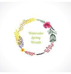 floral wreaths vector image vector image