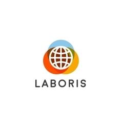 Globe earth logotype global creative sign vector