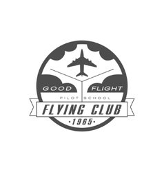 Good flight flying club emblem design vector