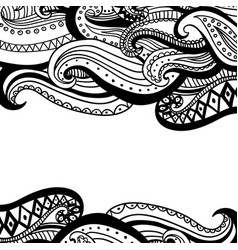 Hand drawn wave abstract outline ornamental vector