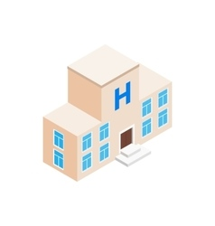 Hospital building icon isometric 3d style vector image vector image