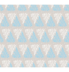 Light Blue Floral Seamless Pattern vector image vector image