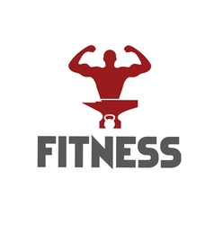 man of fitness silhouette character kettlebell and vector image