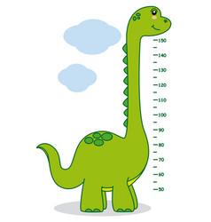 meter wall dinosaur vector image vector image