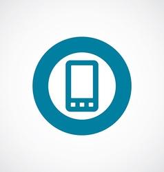 Mobile phone icon bold blue circle border vector
