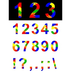 Numbers and symbols vector image vector image