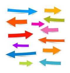 Paper Colorful Arrows Icon Set vector image vector image