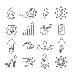 Performance line icons set vector image vector image