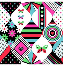 Pop pattern patchwork vector