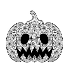 Pumpkin hand drawn helloween vector