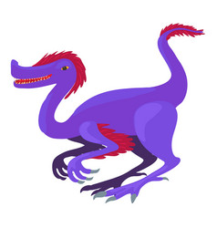 Purple dinosaur icon cartoon style vector