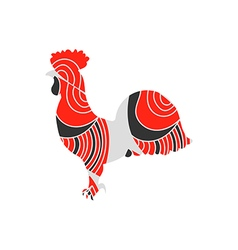 Rooster with a pattern vector