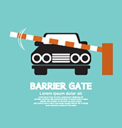 Security Barrier Gate Closed For Vehicle vector image