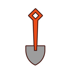 Shovel tool isolated icon vector